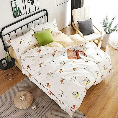 夢工場 綺夢入眠60支紗埃及棉床包兩用被組-雙人