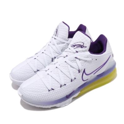 Nike 籃球鞋 Lebron XVII Low 男鞋 詹皇17代 低筒 氣墊 套腳 耐磨 白 黃 CD5006102