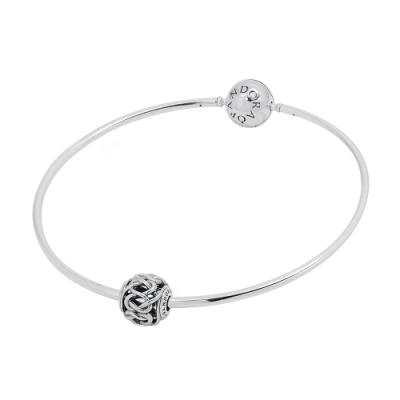 Pandora 潘朵拉 Essence系列细鍊+串珠 925純銀手鍊手環