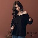 東京著衣-KODZ IG爆款小心機美肩設計針織上衣(共二色)
