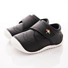 雨傘牌 輕量皮質學步鞋款 EI93208黑(寶寶段)