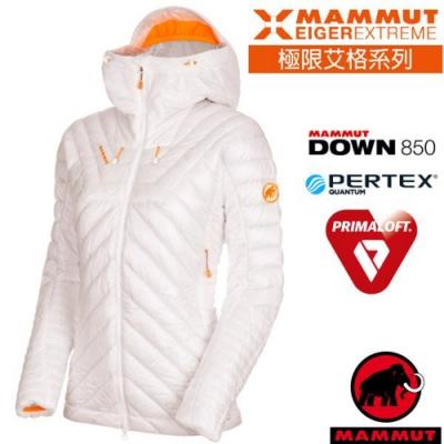 長毛象 女新款 Eigerjoch 高山攀岩極限超機能保暖連帽鵝絨外套_純白