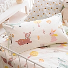 OLIVIA  小森林 黃 標準雙人床包夏日涼被四件組 300織精梳純棉 台灣製
