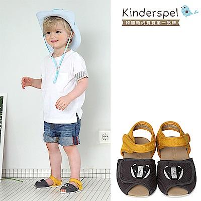 【Kinderspel】超透氣寶寶涼鞋(浣熊寶寶)-(14.5cm)