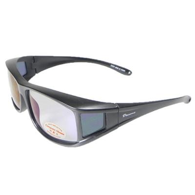 【Docomo】可包覆式偏光套鏡 多功能偏光抗藍光眼鏡 抗UV400(3C族首選配件)