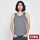 EDWIN 涼感圓領LOGO背心-男-黑灰