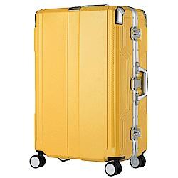 日本LEGEND WALKER 6720-62-25吋 發光圓環把手行李箱 亞洲黃