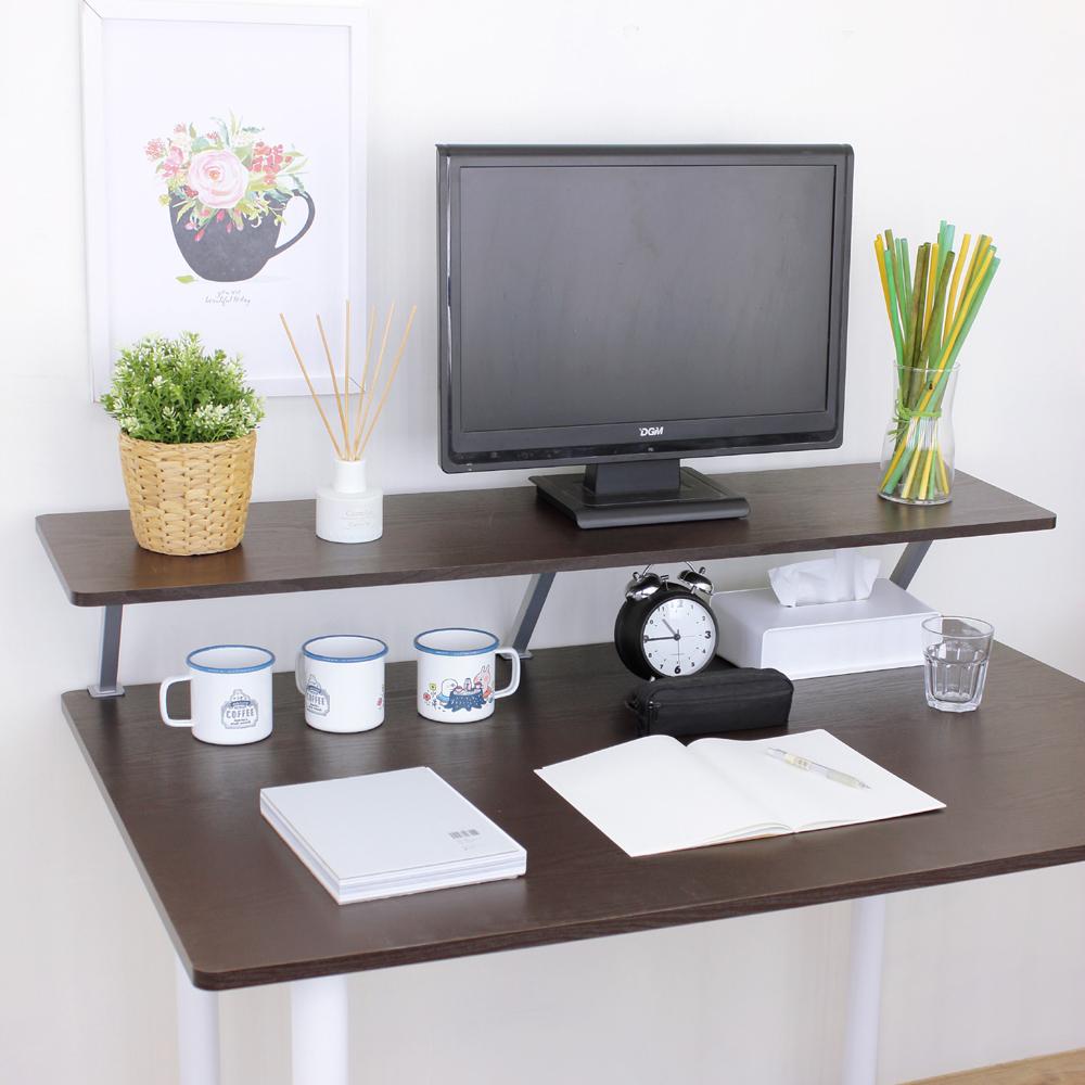 頂堅 寬120公分(Z型)桌上型置物架/螢幕架(二色)