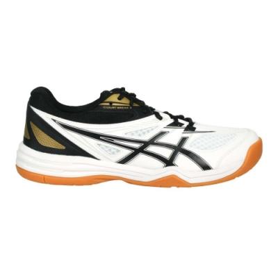 ASICS COURT BREAK 2 男羽球鞋-羽毛球 訓練 亞瑟士 1073A013-102 白黑金