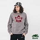 男裝ROOTS  加拿大系列刷毛圓領上衣-灰色