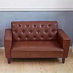 Bed Maker-拉釦古早味‧復古經典 2P雙人 皮革沙發/復刻沙發