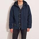 海鷗 Hollister 年度熱銷經典標誌防風防潑水風衣外套-深藍色