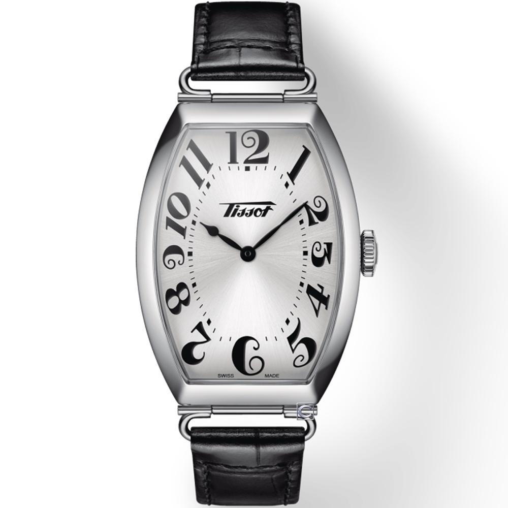 TISSOT Heritage Porto 優雅酒桶形時尚手錶(T1285091603200)