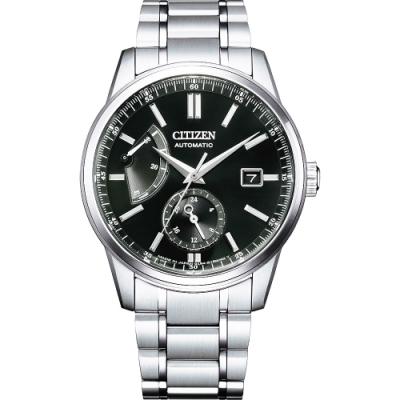 CITIZEN 星辰 Mechanical特殊正能量動儲機械紳士腕錶機械錶設計40.5mm黑色(NB3001-53E)