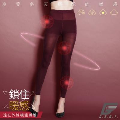 GIAT零肌著遠紅外線隱形美體發熱褲(暗酒紅)