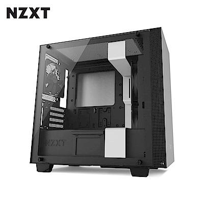 NZXT恩傑 H400 MICRO-ATX CASE 電腦機殼/鋼化側透玻璃-白