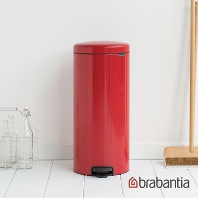 【Brabantia】NEWICON環保垃圾桶-30L熱情紅(新品上市)