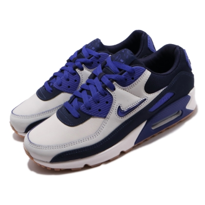 Nike 休閒鞋 Air Max 90 PRM 運動 男鞋 經典款 刮刮樂 小logo 質感 穿搭 白 藍 CJ0611102