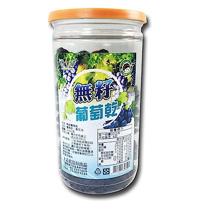 台灣上青 嚴選鮮採無籽無核水果乾-無籽葡萄乾(400g/罐)