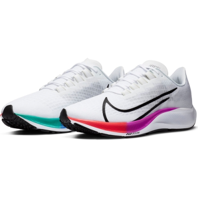 NIKE 慢跑鞋 輕量 緩震 訓練 運動鞋 男鞋 白 BQ9646103 AIR ZOOM PEGASUS 37