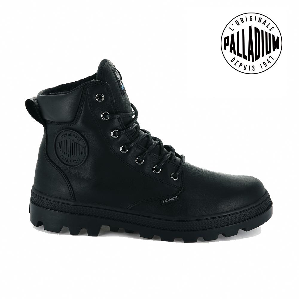 PALLADIUM PALLABOSSE WP+防水皮革靴-男-黑