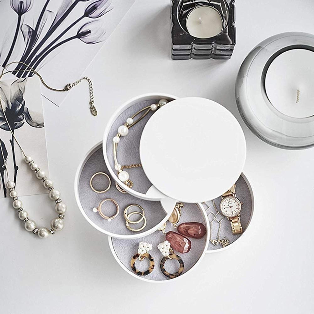 梨花HaNA 桌面家居旋轉實用收納首飾珠寶盒