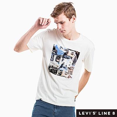 Levis 男女同款 短袖T恤 Line 8 系列 歐風印花