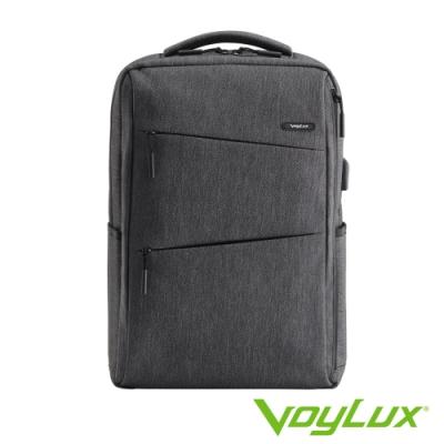 VoyLux 伯勒仕-極簡系列幾何線條電腦後背包-瓦灰色3585009