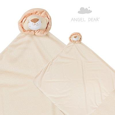 美國 Angel Dear 大頭動物嬰兒毛毯禮盒版 (小獅子)