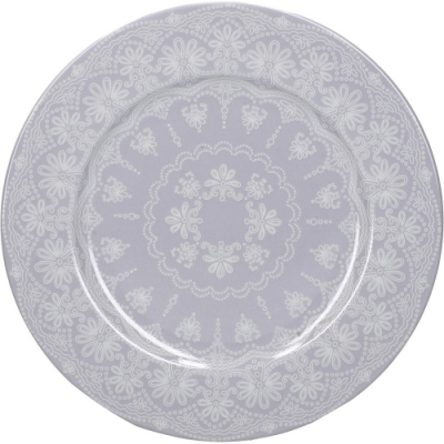 《CreativeTops》蕾絲淺餐盤(淡紫19cm)
