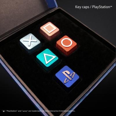 PlayStation 鋁合金鍵帽 5入組(僅對應Cherry鍵盤 MX軸)