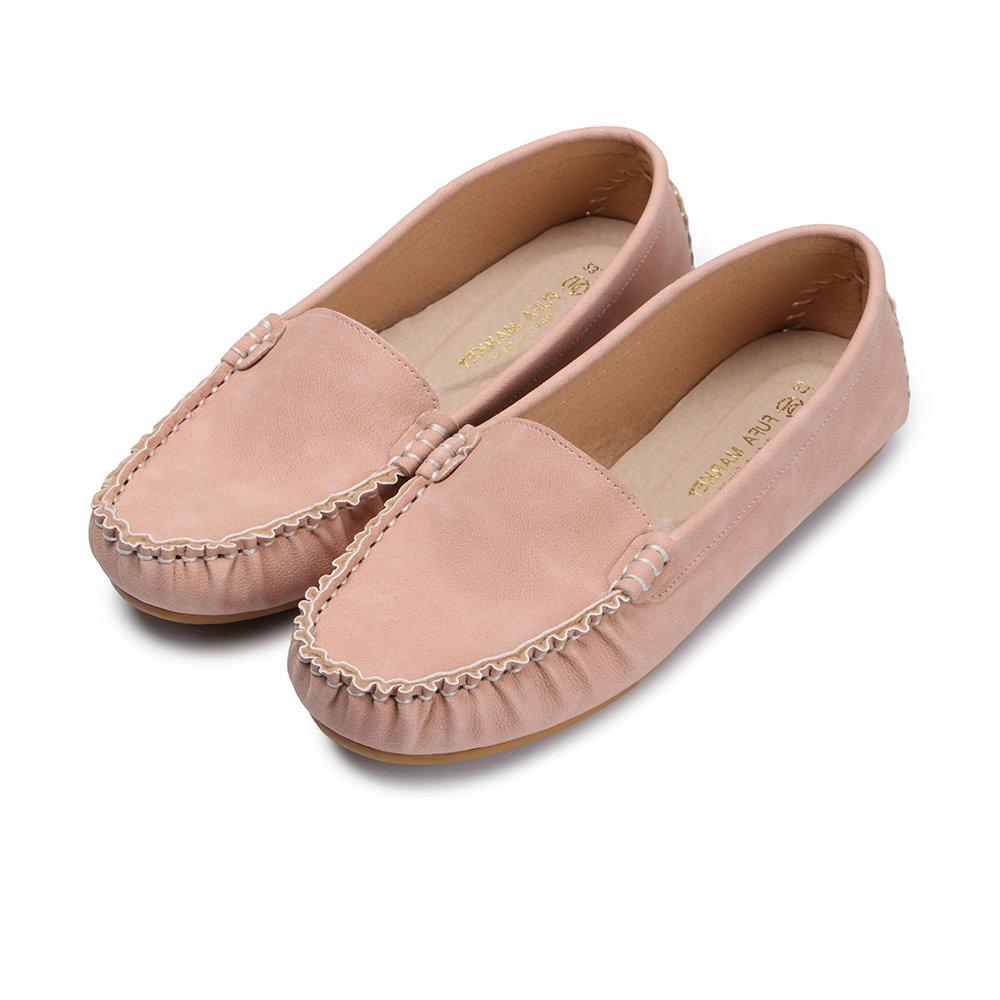 BuyGlasses 輕柔好感莫卡辛休閒鞋-粉 @ Y!購物