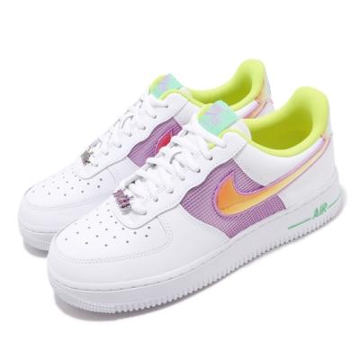 Nike 休閒鞋 Air Force 1 07 運動 女鞋 經典款 AF1 皮革 質感 簡約 穿搭 白 金 CW5592100