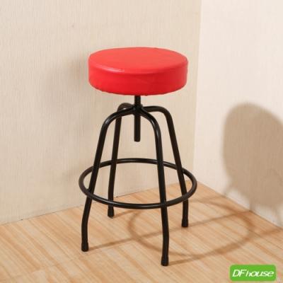 《DFhouse》麥肯基-泡棉旋轉吧椅-紅色 寬44*深44* 高67-80