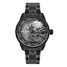 POLICE 浴血骷髏時尚腕錶-黑x灰(15715JSQU-78M)/47mm
