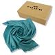 COACH 經典C LOGO羊毛混莫代爾絲巾圍巾禮盒(土耳其藍) product thumbnail 1