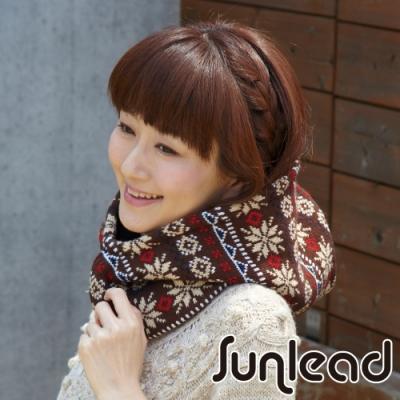 Sunlead 雙面可戴。保暖防風雙層加厚多機能頭套/面罩/脖圍 (暖棕色)