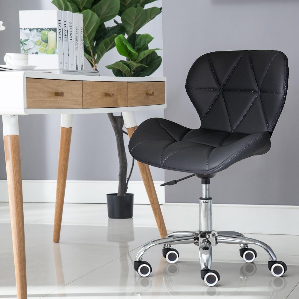 E-home Radar雷達軟墊電腦椅 黑色
