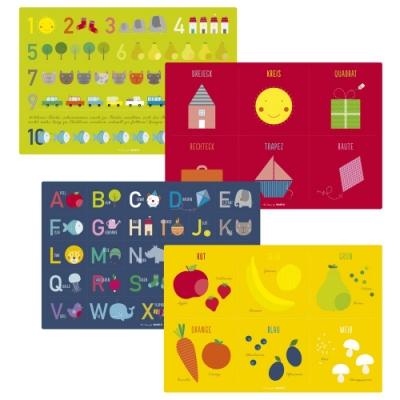 JAKO-O德國野酷-兒童教育學習餐墊四片組