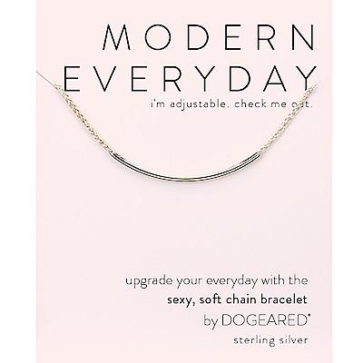 Dogeared modern everyday 平衡骨手鍊 銀色 亮面優雅墜 經典流蘇款