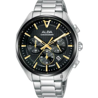 ALBA 雅柏 東京賽車計時手錶(AT3G79X1/VD53-X366D)-42mm