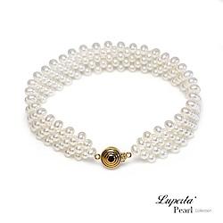 大東山珠寶 14K金天然淡水珍珠歐美古典編織手環 璀璨