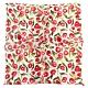 Sybilla 花團錦簇彩繪純綿帕巾領巾-紅色 product thumbnail 1