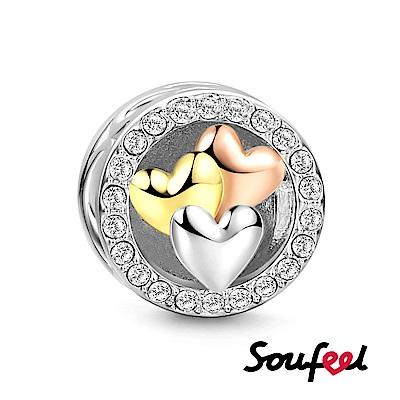 SOUFEEL索菲爾 925純銀珠飾 愛心滿滿 串珠