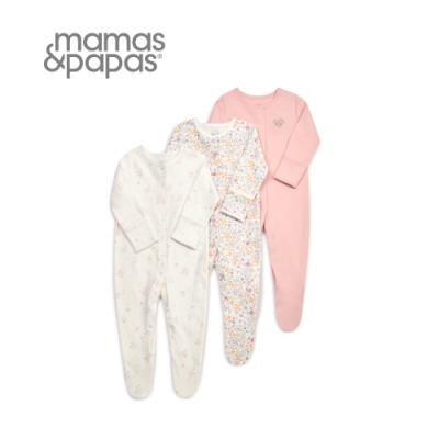 Mamas&Papas 花季飄飄-連身衣3件組