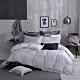 OLIVIA  Mars 銀灰 特大雙人床包被套四件組 300織銀纖維天絲萊賽爾 台灣製 product thumbnail 1