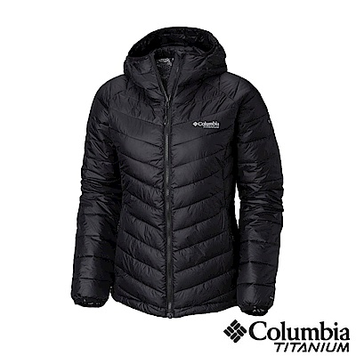 Columbia哥倫比亞 女款-鈦Omni-HEAT 3D鋁點保暖連帽外套-黑色