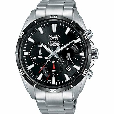 ALBA 雅柏 Solar 太陽能機芯限定款計時手錶(AZ5003X1)-44mm