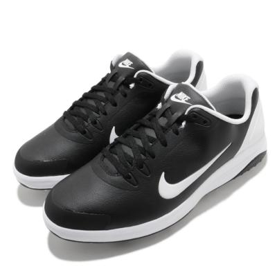 Nike 高爾夫球鞋 Infinity Golf 寬楦 男鞋 避震 包覆 皮革 簡約 運動 球鞋 黑 白 CT0535001