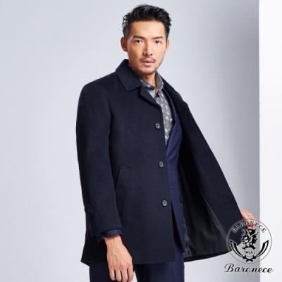 BARONECE 紳士風格羊毛大衣(618203-09)